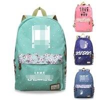 Kpop 방탄 소년 배낭 학교 가방 캔버스 고품질 인쇄 대용량 패션 방탄 소년 kpop 편지지 가방