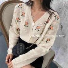 Женский трикотажный кардиган повседневный Универсальный свитер
