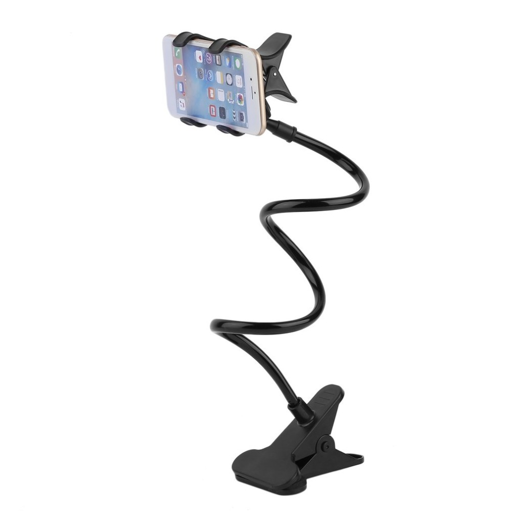 Hot Sale Lazy Shelf Bedside Mobile Phone Holder Clip For Smart Phone Adjustable Stand Holder Desk Long Bending Foldable Support