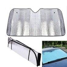 1 шт., рефлектор-абажур для лобового стекла автомобиля, защита от ультрафиолета, защита экрана, алюминиевая фольга, солнцезащитный козырек, крышка, блок, 130*60 см, автомобильные аксессуары