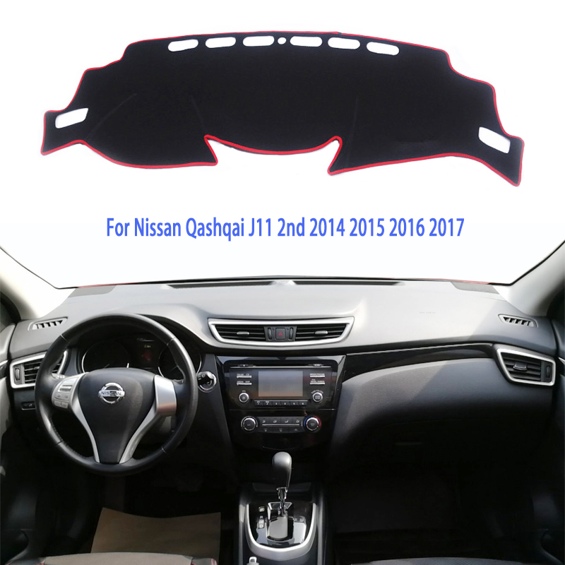 Car Dashboard Covers For Nissan Qashqai J11 X-trail T32 Rogue 2014 2015 2016 2017 2018 Mat Shade Pad Carpets Accessories