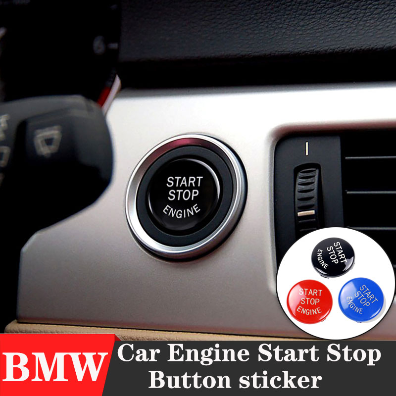 Car styling ABS 3D Sticker of Interior <font><b>Engine</b></font> Start Stop Button <font><b>Cover</b></font> For <font><b>BMW</b></font> <font><b>E90</b></font> E91 E60 E84 E83 E72 E-type chassis image