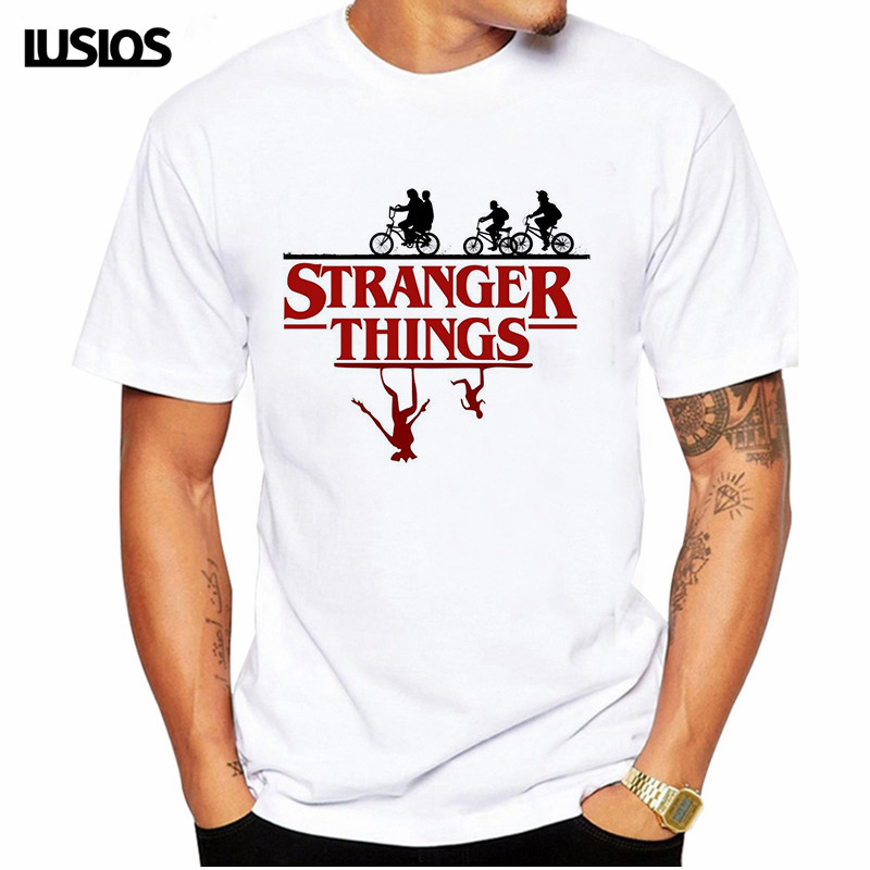 Stranger Things T Shirt Men Season 3 Eleven Tshirt Graphic Clothes Upside Down Men T-shirt Homme Grunge Tee Shirts Funny T-shirt