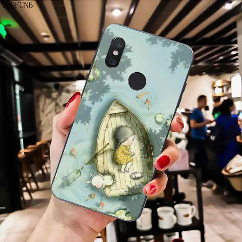 YNDFCNB irl и ее Кролик чехол для телефона xiaomi mi 5 6 A2 A2lite A1 9 9SE 8Lite 8explorer Pocophone F1