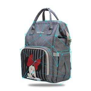 Image 3 - Disney Mickey Minnie Sacchetto di Viaggi Diaper Bag Bolsa Maternidade Passeggino Impermeabile USB Del Bambino Scaldino della Bottiglia del sacchetto della Mummia Del Sacchetto Del Pannolino Zaino