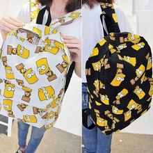 Симпсон холст рюкзак в виде животных; С принтом школьные сумки