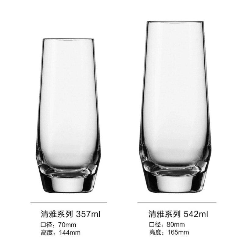 Молочные чашки Verre бар бокал для вина Хрустальная чашка аксессуары пивной сок коктейль виски shot vinho шампанского tazas VEMs de vidrio - Цвет: E 357ml