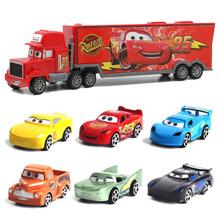 """7 шт./компл. disney """"тачки 3 Lightning McQueen дядя грузовик ABS литья под давлением модель автомобиля горячие игрушки год рождественский подарок для детей"""