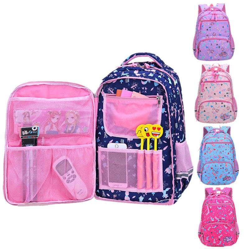 Children Cartoon Printing School Bags Girls Student Primary School Large Capacity Backpack Kids Schoolbag Cute Flower Back Pack