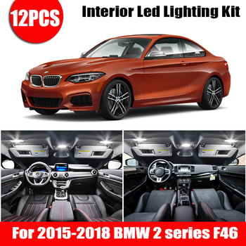 For 2015-2018 bmw 2 series F46 gran tourer White car accessories Canbus Error Free LED Interior Light Reading Light Kit Map Dom image