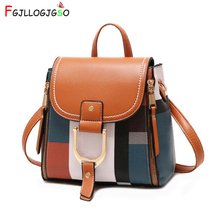 2020 Designer Backpacks Women Leather Backpacks Female School BagS for Teenager Girls Travel Back Bag Retro Bagpack Sac A Dos