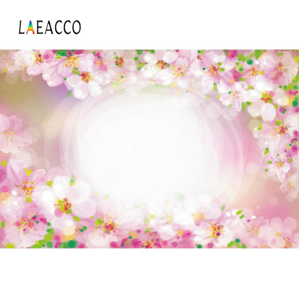 Laeacco Merah Muda Musim Cherry Bunga Bayi Baru Lahir Cinta Manis Pesta Melamun Wonderland Indah Fotografi Latar Belakang Latar Belakang Foto