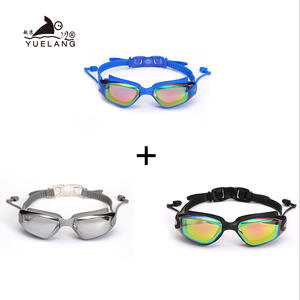 Swimming-Goggles Glasses Professional Anti-Fog Adult Waterproof Silicone 3pcs Pull-Buckle
