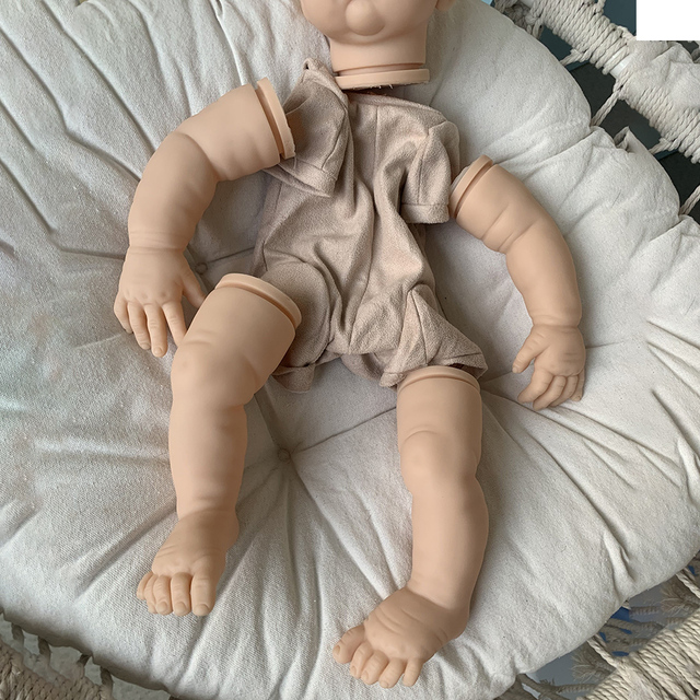 22inch Cute Blank Reborn Baby Doll Kit DIY Toy With Body Eyes Soft Vinyl Realistic Accessories Gift Unfinished Unpainted 1