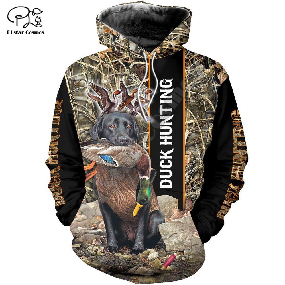PLstar Cosmos Duck Hunting Animal Hunter Camo Tattoo Dog Tracksuit Pullover Streetwear 3DPrint Zip/Hoodies/Sweatshirts/Jacket 13