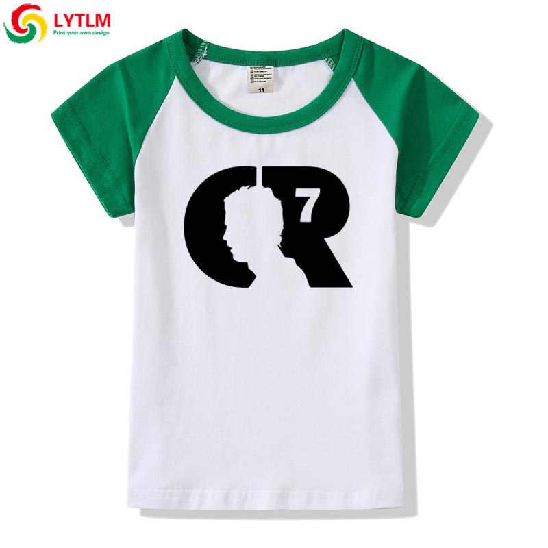 LYTLM Cristiano Ronaldo chicos adolescentes T camisas chico de las niñas Tops Camiseta chicas camisas Ronaldo chico Camiseta para niñas chico ropa