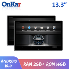 ONKAR 13.3 אינץ אנדרואיד 10 רכב משענת ראש צג 2 + 16GB 4K 1080P וידאו Bluetooth FM Miracast WIFI SD כרטיס HDMI מסך שיקוף