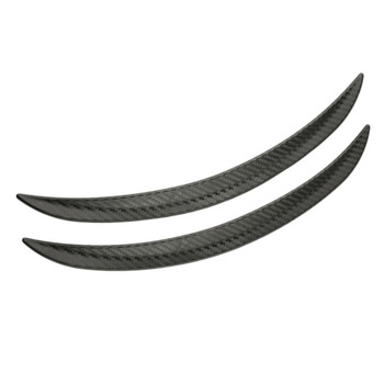 2pcs Carbon Fiber Style Fender Flare Wheel Lip Body Kit Universal For Car Truck Car Mudguard Mud Guard image