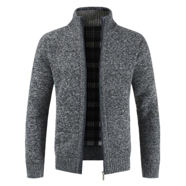 Men's Jacket Slim Fit Stand Collar Zipper Jacket  4