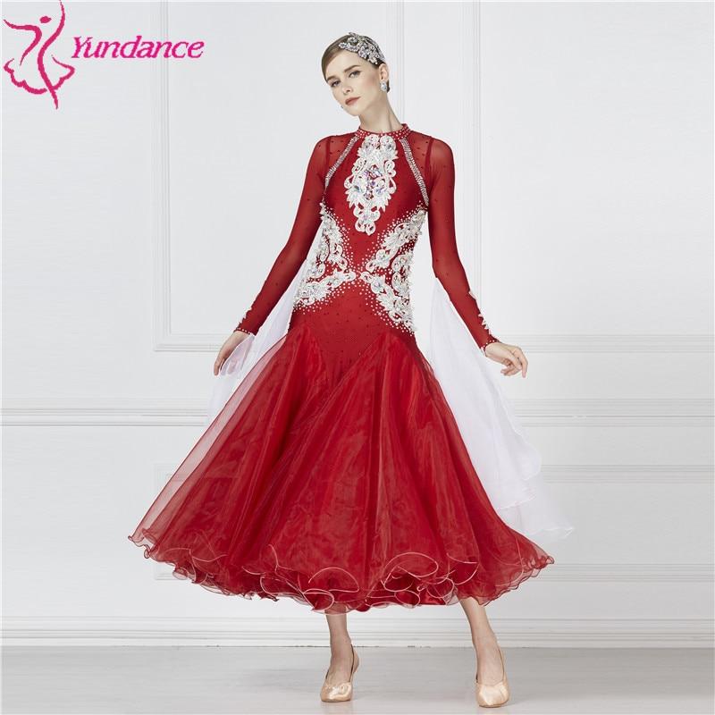 B-17117 New Women Rhinestone Ballroom National Standard Competition Dance Dresses