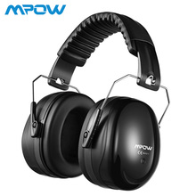 Mpow HP056 NNR 28dB Safety Ear Muffs Shooter Hearing Protection Noise Reduction Soft Foam Folding-Padded Head Band Ear Cups Kids