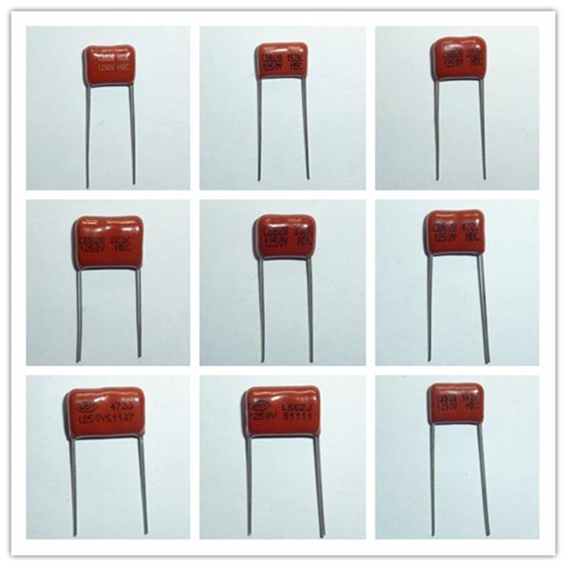 10pcs 1250V 102 152 222 332 472 562 223 1nF 1.5nF 2.2nF 3.3nF 4.7nF 5.6nF 22nF Metallized Polypropylene Film CBB Capacitor 1000V