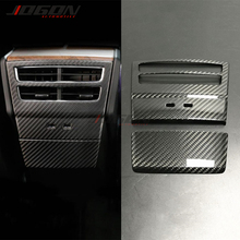 Cover Tesla-Model Airvent Trim Outlet Real-Carbon-Fiber Rear for Seat 2pcs Glossy Matte