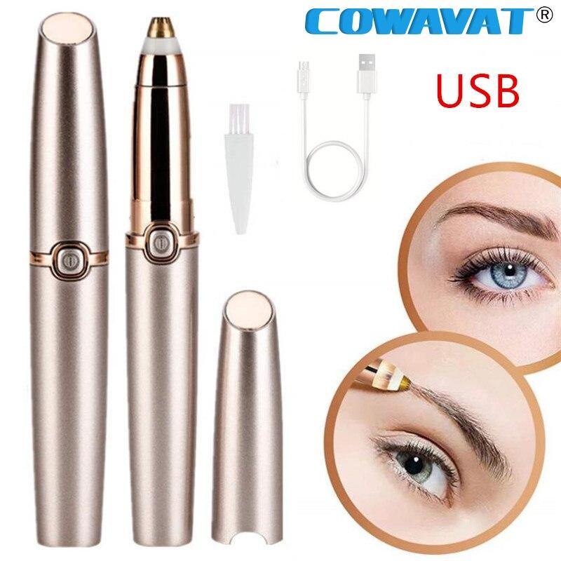 Eyebrow Hair Remover Trimmer Mini Electric Facial Hair Shaver Lip Eyebrows Hair Razor Epilator Pen Protable Safety Women Razor