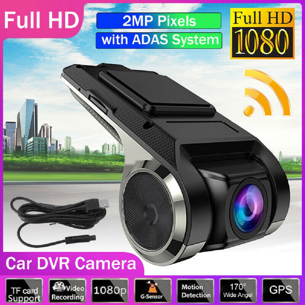 1080P USB Car DVR Dash Cam Car DVR Camera For Car DVD Android Player Navigation Floating Display LDWS G Shock Driving Recorder