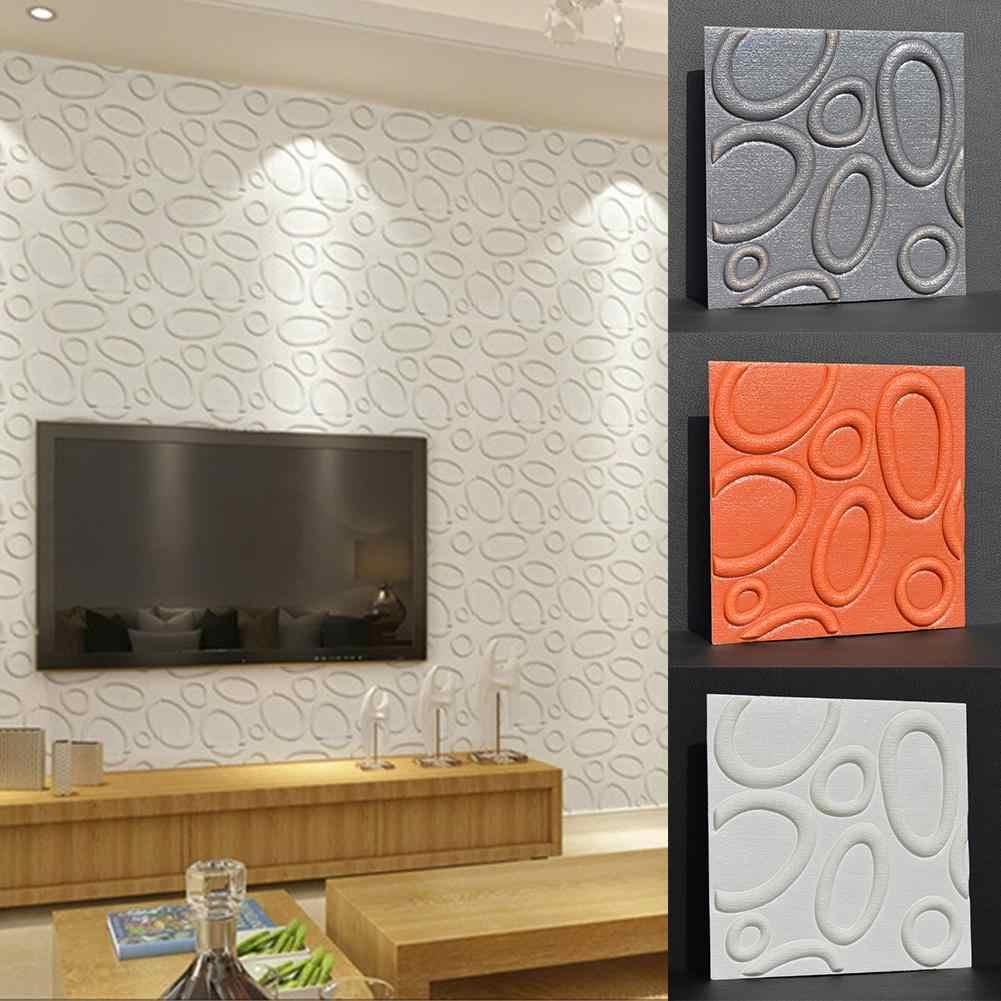 ใหม่ 3D เป็นมิตรกับสิ่งแวดล้อม PE โฟมกาวกันน้ำสติ๊กเกอร์ติดผนังรูปลอกตกแต่งภายในห้องนอน Wall Decor