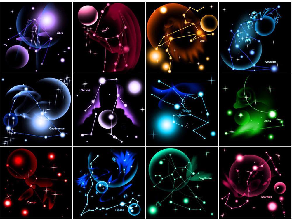 Twelve Constellation 5D DIY Full Drill Diamond Painting Cross Stitch Wall Decor