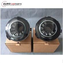 G vidro g63 farol m estilo tira e cor preta conduziu a lâmpada de cabeça apto para w463 g63 g65 g500 g400 g350 luzes da cabeça