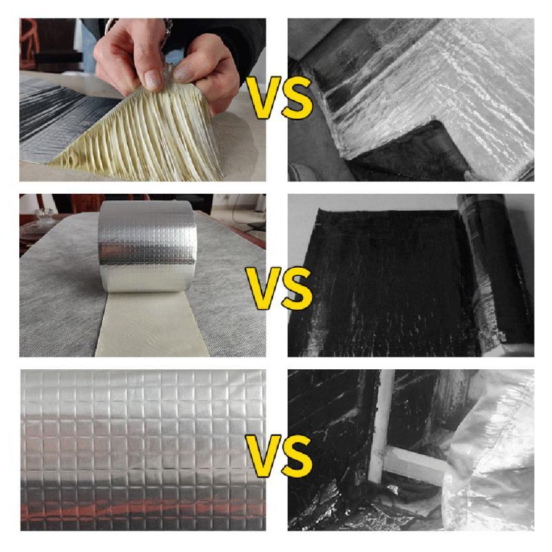 Aluminum Foil Butyl Rubber Tape Self Adhesive Foil Tape WaterProof Super Repair Crack Thicken Butyl Waterproof Tape Repair Tools