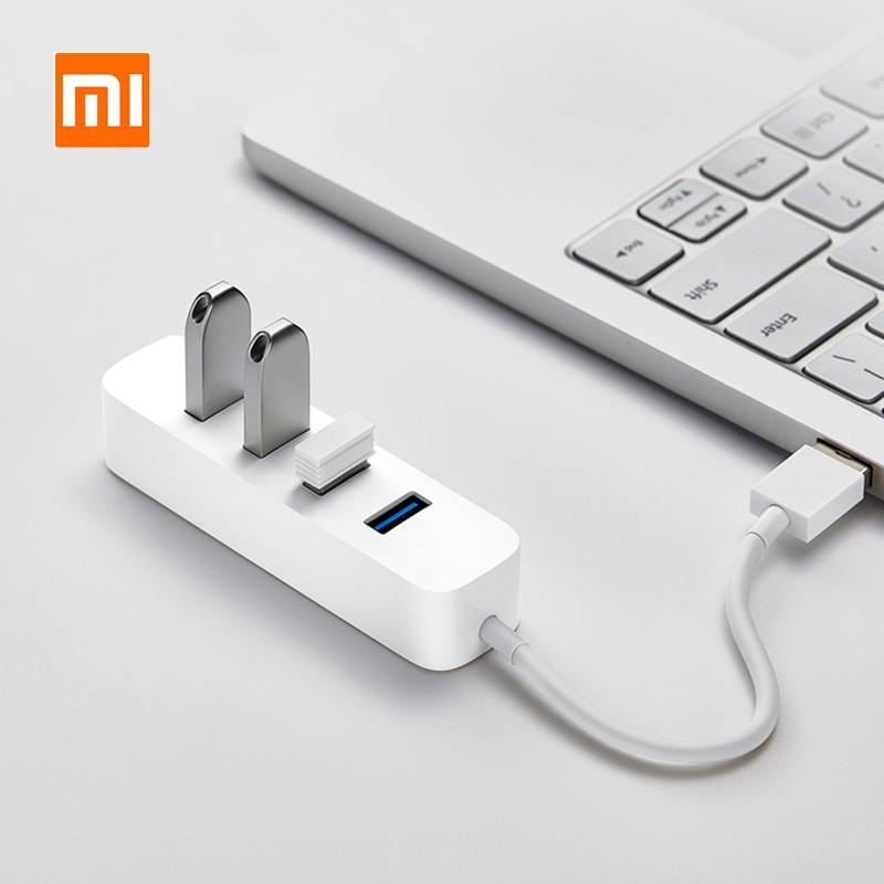 XIAOMI 4 Ports USB3.0 Hub With Stand-by Power Supply Interface USB Hub Extender Extension Connector Adapter For PC Laptop