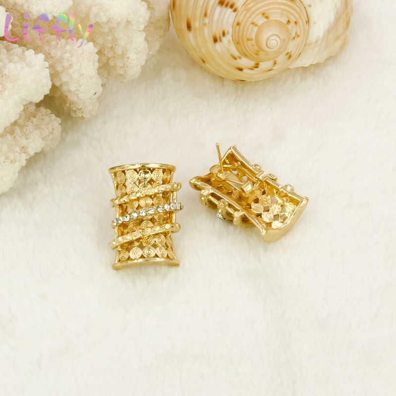 Nigeria Schmuck Sets für Frauen Klassische Tricolor Halskette Ohrringe Ring Armband Dubai Schmuck-Sets 4 Stück Set Partei Schmuck