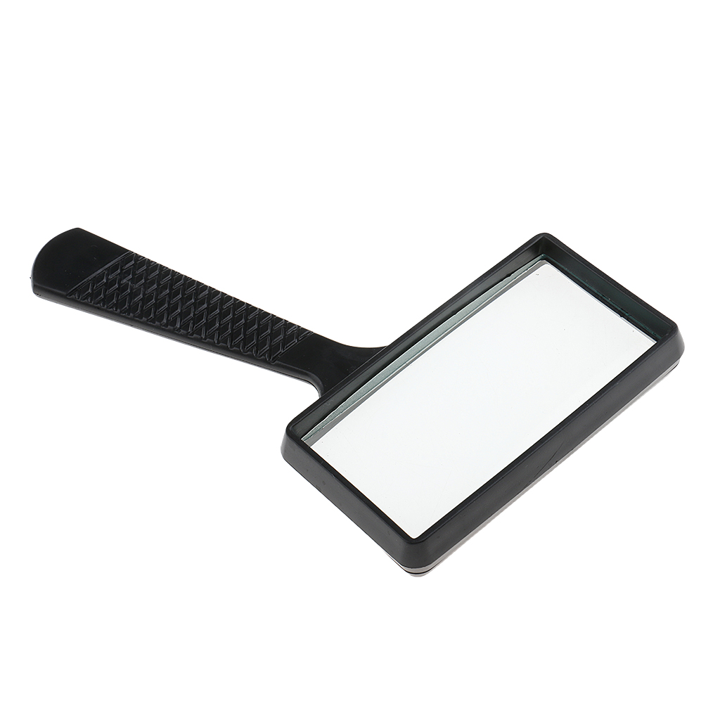 Pro Rectangle Handheld Magnifying Glass Magnifier 3X Magnification Lens Loupe For Book Reading Jewelry Making