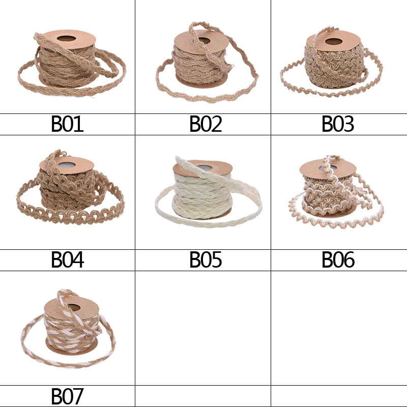 5M/Roll Braided Jute Rope Burlap Ribbon Rustic Hessian Ribbon Vintage Wedding Party Decoration Gift Wrapping Supplies DIY Crafts-1