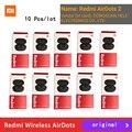 10 teile/los Original mi Airdots 2 Xiaomi Redmi TWS Kopfhörer Wahre Drahtlose Bluetooth 5,0 mi Wahre Drahtlose Ohrhörer