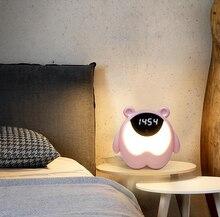 3 In 1 Kids Alarm Clock Cute Bear Digital Alarm Clock For Kids Bedside Clock Children S Sleep Trainier Wake Up Night Light