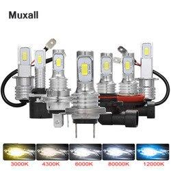 2 sztuk Mini H4 H7 LED reflektor samochodowy zestaw świateł przeciwmgielnych 6000K 3000K 8000K 72W 12000LM H1 H11 9005 HB3 H8 H9 12000K żarówki akcesoria samochodowe