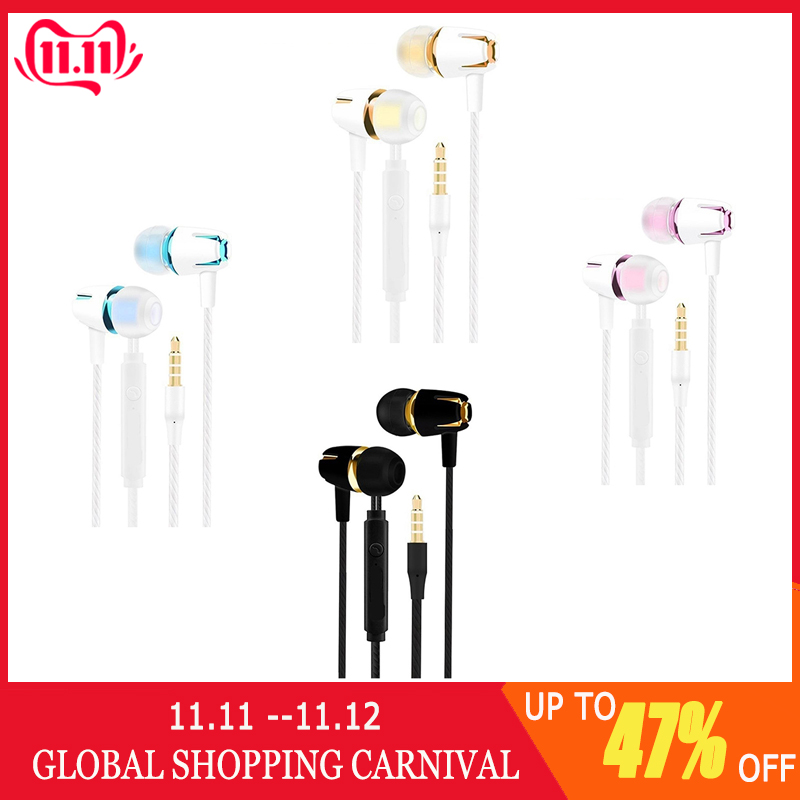 In Ear Earphone Running Sports Wired Earplug Headset With Microphone For Android For IOS