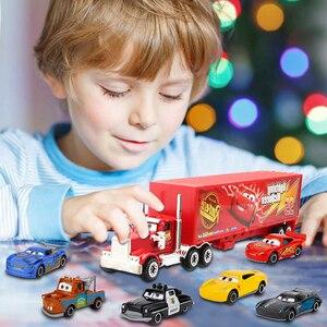 Image 5 - 7 ピース/セットディズニーピクサー車 3 ライトニングマックィーン · ジャクソン嵐クルス母校マック叔父トラック 1:55 ダイキャストメタルカーモデル少年のおもちゃ