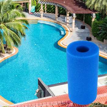 Wielokrotnego użytku zmywalny filtr do basenu gąbka piankowa cylindryczna czysta bawełna pianka do czyszczenia i wielokrotnego użytku zmniejsz koszty tanie i dobre opinie Filter Sponge Other