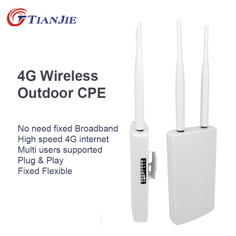 TIANJIE CPE905 Smart 3G 4G WIFI Router Home Hotspot 4G RJ45 WAN LAN WIFI Modem Router CPE 4G WIFI Router With Sim Card Slot