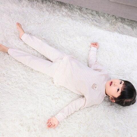 manga comprida algodao conjunto de roupas infantis