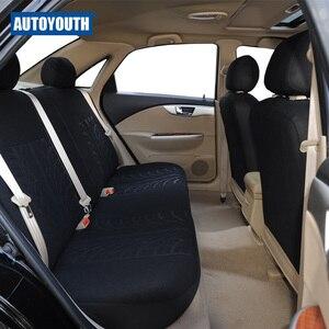Image 3 - Cubierta de asiento de coche completo Universal, cubierta de asiento para vehículos, color negro, para peugeot