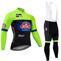 Командный набор велосипедных штанов sottoli 20D для велоспорта  зимняя теплая флисовая велосипедная куртка  Maillot wear  2020