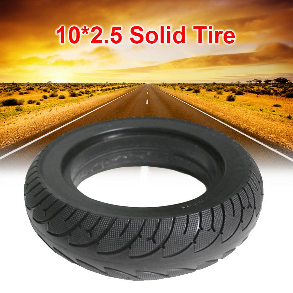 10*2.5 Solid Tire 10 Inch For Electric Scooter Folding E-bike Widened Tyre Black