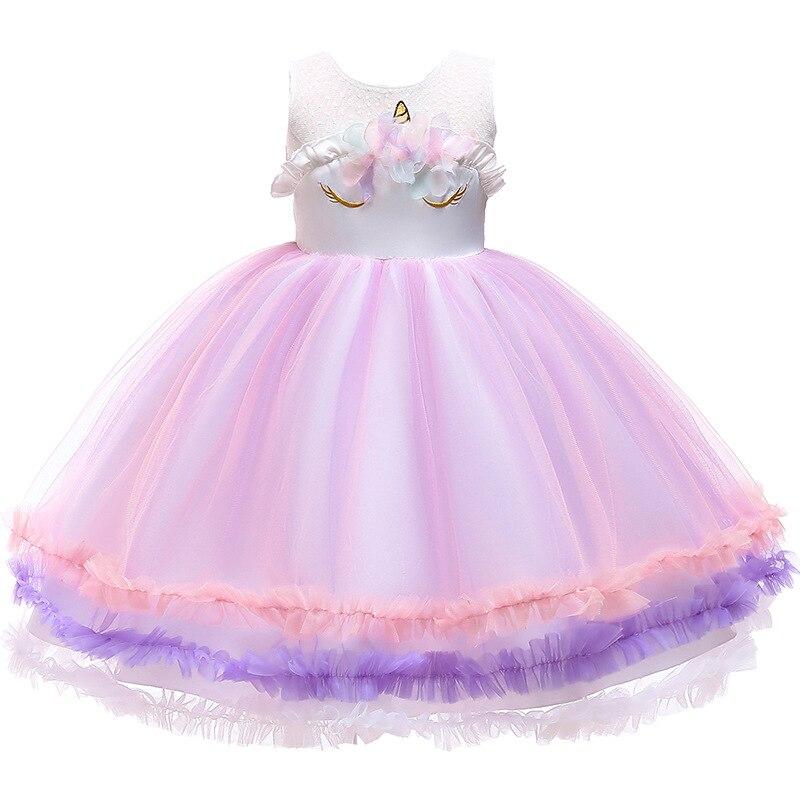 Kids Unicorn Dress Girls Lolita Dresses Princess Wedding Dress Ball Gown Tutu Halloween Chrismas Birthday Party Costumes