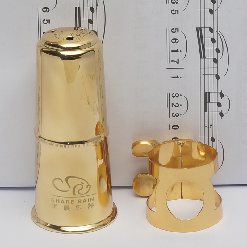 Share Rain Hard Rubber Mouthpiece Appropriative Metal Ligature And Cap Eb Alto Bb Soprano Tenor Saxphone Bb Clarinet